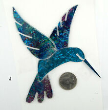 "HUMMING BIRD ""J"" Mosaic Art Glass by Makena Tile"