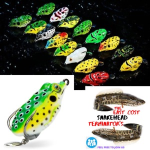 NEW Frog Topwater SILVER TAIL Lure Bass/Snakehead/Pike USA Seller Hi Splash Bait