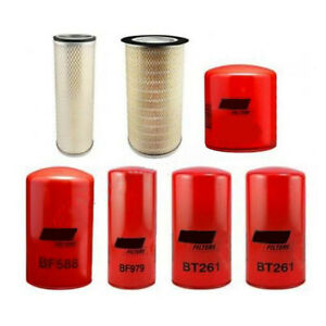 Oil Air Fuel Coolant Filters for IH 1066 1086 1466 1486 1566 1586 3388 5088 6388