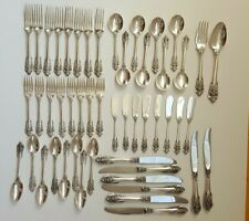 Grande Baroque By Wallace Sterling Silver Flatware Service For 8- 50 Pieces