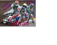 Speedway Bikes Birthday card Personalised A5