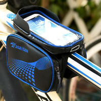 Waterproof Bike Mountain Cycling Front Frame Tube Phone Touch Screen Bicycle Bag