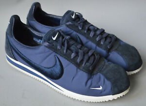 Men's Blue Nike Classic Cortez SP Obsidian & White Lace Up Trainers Size UK 11.