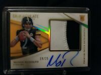 2018 Immaculate Mason Rudolph Premium Patch on card Auto Rc 19/25 Acetate