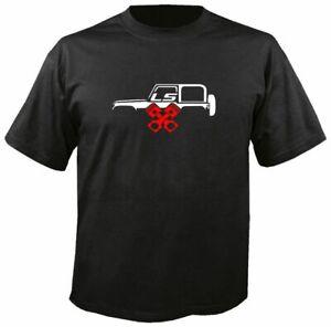 LS WRANGLER w PISTONS black T-shirt off road mud bogger hill climb Jeep Chevy
