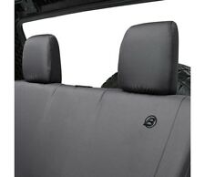 Bestop Rear Seat Cover For 08-12 Jeep Wrangler 4-Door Black Denim #29281-35
