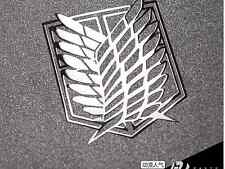 2PC Attack On Titan Freedom Wing 3D Metal Decal Sticker For Phone Decals Sticker