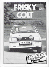 Mitsubishi Colt Lancer 2000 Turbo - 2 x road tests - 1981