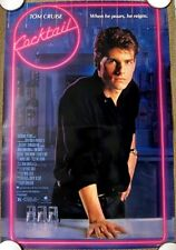COCKTAIL  Original (1988) 27x40 Movie Poster TOM CRUISE ~ ROLLED MINT CONDITION!