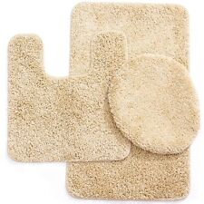 "3 Piece Elite Spa Collection Rug Set Large Mat 20""x""31 Contour 20""x""20 Beige"