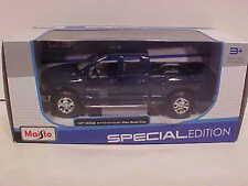2002 Dodge Ram Quad Pickup Truck Die-cast Car 1:27 Maisto 7.75 inch Blue