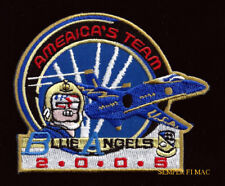 2005 BLUE ANGELS PATCH F-18 US NAVY MARINE VETERAN AIRSHOW WING GIFT BR SL-485