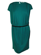 DKNYC Women's Solid Color Dress (2X, Lake)