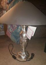 .925 Sterling Embossed Italian Lamp/Original Shade NIB