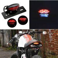 Hot Red 12V Motorcycle Tail Brake Light Indicator LED License Plate Light