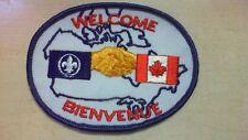 Welcome Bienvenue Patch Canada  - BOY SCOUT PATCH R7T3