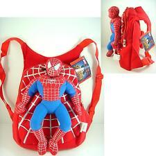 Spider-man Spiderman Kids Soft Plush Doll Backpack Rucksack Bag + CHARM