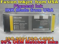 compatible Epson Stylus Pro 4000 4400 7600 9600 Yellow Pigment ink 220ml T5444