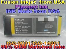 compatible Epson Stylus Pro 4000 4400 7600 9600 Yellow Pigment ink 220ml T5444 y
