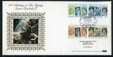 Great Britain 60th Birthday of HM Queen Elisabeth 2nd  silk first day cover #2