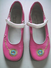 New LITTLE ERIC  Pink Leather Mirrors Girls Mary Janes Shoes S 31 US 13