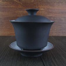 Yixing Purple Clay Porcelain Gaiwan Tea Cup Gongfu Tea Bowl 110ml(M) GW017