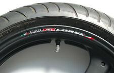 8 x MV AGUSTA F4 CORSE Wheel Rim Stickers Decals - 750 1000 1078rr r f4 brutale