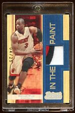 DWYANE WADE 2007 TOPPS GAME WORN ALL STAR PATCH /25 IN THE PAINT  NEVER RELEASE