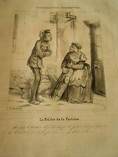 Litho 1838 Contribution Indirectes N°05 La Bûche de la Portière