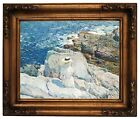 Hassam The South Ledges, Appledore 1913 Wood Framed Canvas Print Repro 11x14