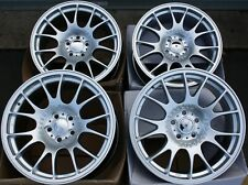 "ALLOY WHEELS X 4 18"" SILVER CH MESH FOR 5X100 AUDI A1 A3 VW BORA POLO GOLF VENTO"