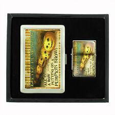 VINTAGE HALLOWEEN D16 CIGARETTE CASE / WALLET & LIGHTER GIFT SET OLD FASHIONED