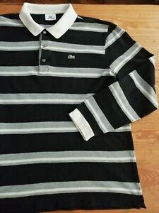 LACOSTE Mens polo shirt, size XXL (7), long sleeve