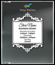 Very Unusual Custom Business Store Hours Vinyl Decal Outdoor Sticker Sign Door