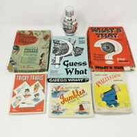 Vintage Party Game Bundle Guess What Guess That Puzzledem Tricky Trades Puzzles