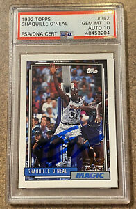 1992 Topps Shaquille O'Neal Rookie/Auto Card!! Low Pop