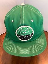 Vtg Shamrock Nitromite Patch SnapBack Trucker Mesh Hat K Products Usa Green
