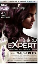 6 X Schwarzkopf COLOR EXPERT Omega Plex Permanent Colour 4.9 Deep Amethyst