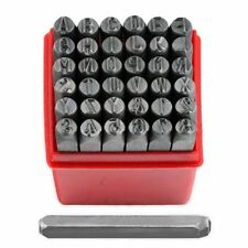 "36 Piece 1/4"" Steel Letter & Number Stamping Set Metal Stamps Alphabet Numerals"