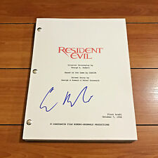 ERIC MABIUS SIGNED RESIDENT EVIL SIGNED FULL 96 PAGE MOVIE SCRIPT w/ COA