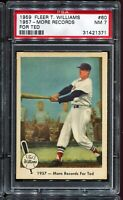 1959 Fleer Ted Williams Baseball #60 1957 - MORE RECORDS FOR TED PSA 7 NM