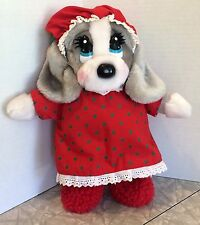 Vintage Applause Sad Sam's Honey Mrs Claus Plush Christmas Nightgown Slippers