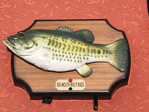 Big Mouth Billy Bass Singing Fish Take Me To The River & Dont Worry 1999 Gemmy