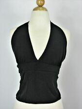 Backless Halter Top Wet Seal Tie Back Crepe NEW M NWT $22