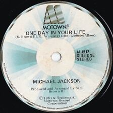 Michael Jackson OZ Reissue 45 One day in your life EX '81 Motown M1512 Soul