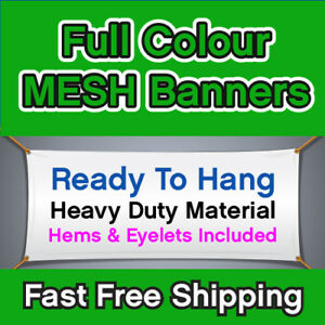 PVC MESH BANNER SCAFFOLDING BANNER FREE FULL COLOUR DESIGN PRINTED FREE SHIPPING