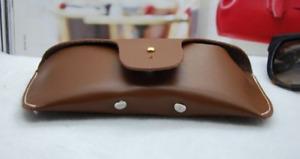 men women Eyeglass Cases sunglasses bag cow Leather Customize light brown z328
