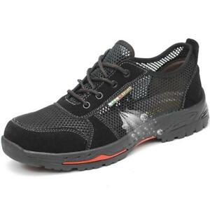 Sicherheitsschuhe Arbeitsschuhe S3 Stahlkappe Sommer Mesh Atmungsaktiv Schuhe