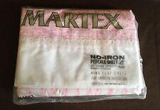 """Vintage Martel King Flat Sheet - Wicker & Lace - For 78x80"""" Mattress - NEW"""