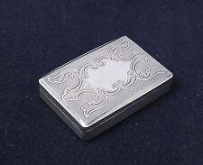 Antique 1887 Hungary Austria Silver Ornate Engraved Snuff Box No Monograms
